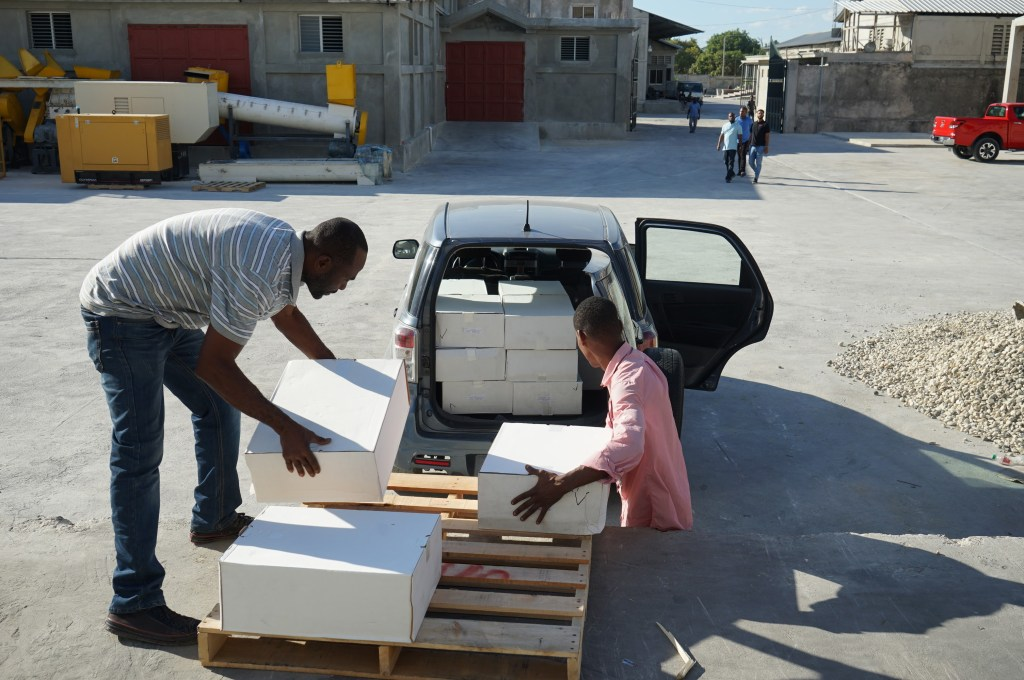 Delivery of medicines in Haiti.